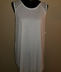 Old navy crocheted tunic tank top